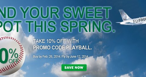 10 percent off with frontier