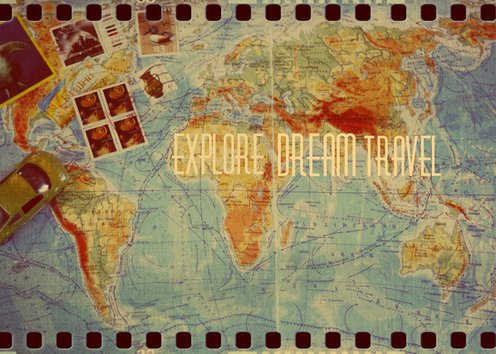 Explore Dream Travel Art Print