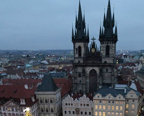 Aerial view of Prague s