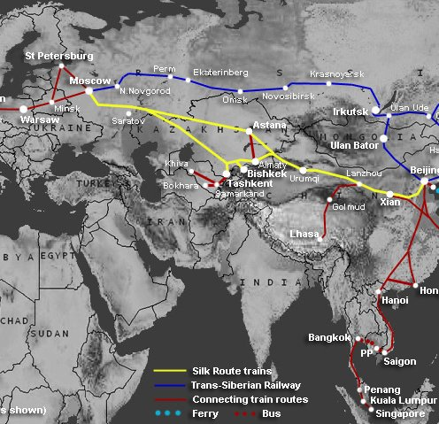 Route map - The Silk Route