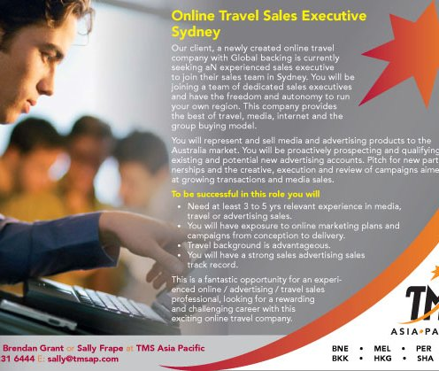 Online Travel Sales Executive