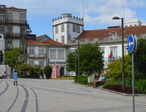 Plaza in Porto, Portugal