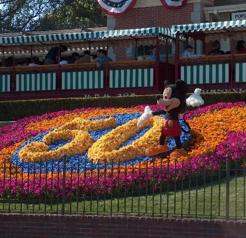 Disneyland during its 50th