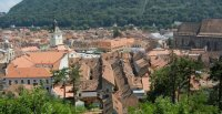 Photo of the old town of Brasov, Romania