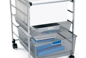 Travel file carts on wheels