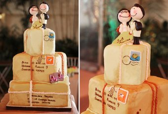 Travel Wedding cake Toppers