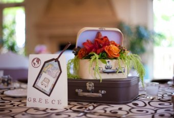 Travel Wedding Centerpieces