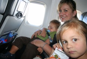 Traveling on airplane with toddler