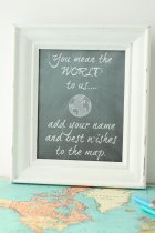 travel map wedding guest book idea sign in