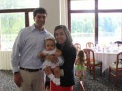 With Daniella after her baptism
